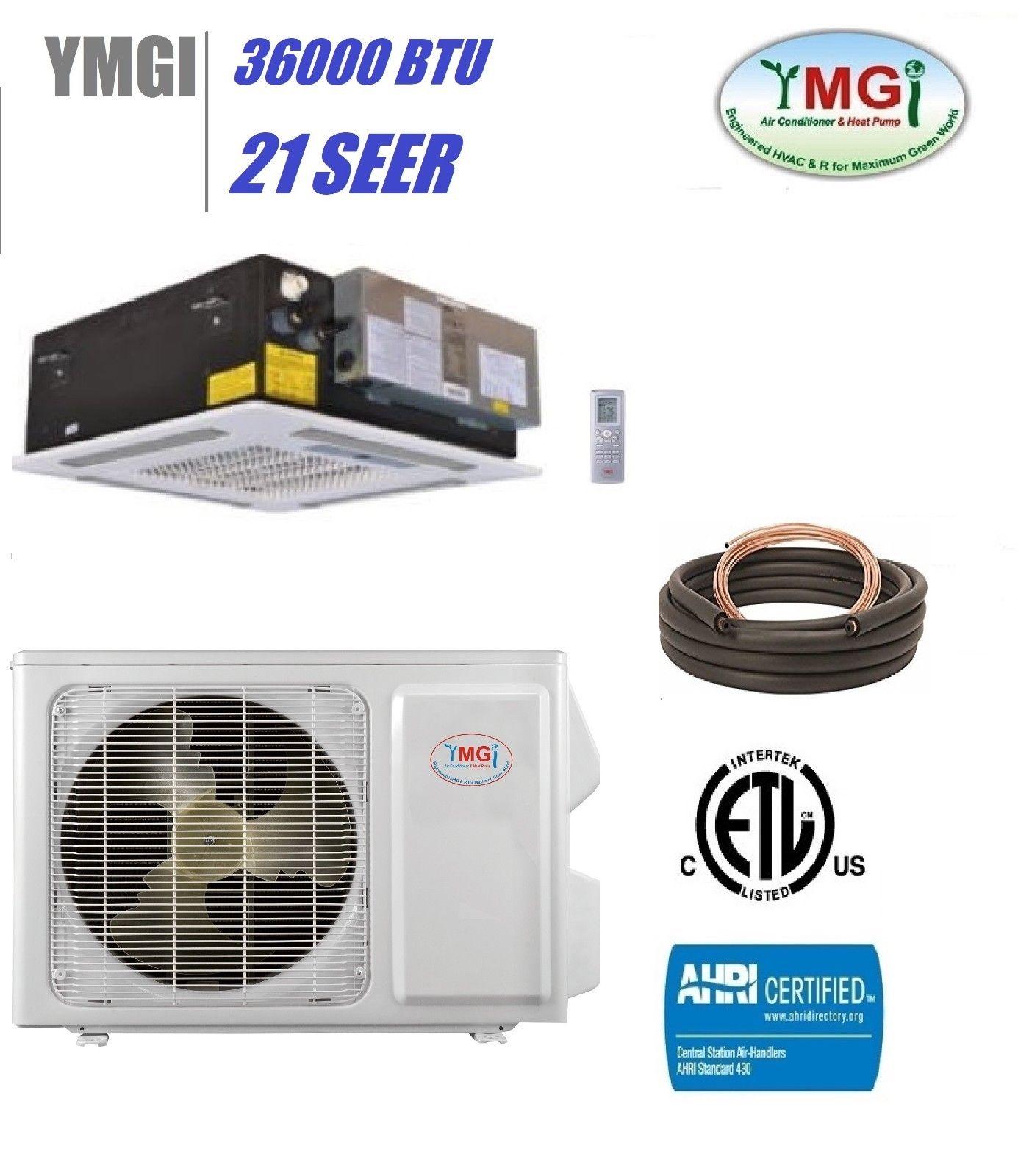 Ymgi 36000 Btu 21 Seer Ductless Mini Split Air Conditioner Heat